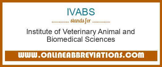 What does IVABS mean in Medical?
