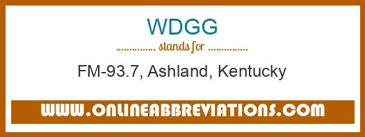 WDGG Meaning Of The Abbreviation Is
